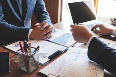Business Financial Expert Analyzing Data