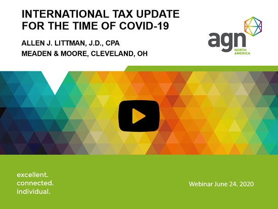 International tax webinar