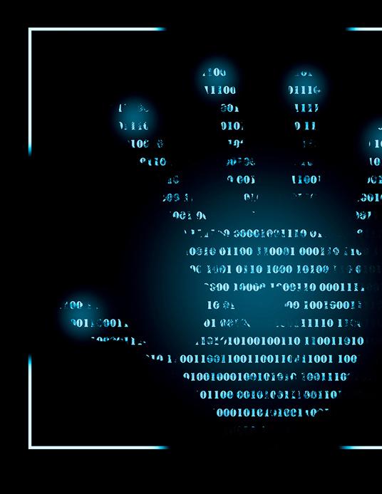 Hand print of computer code