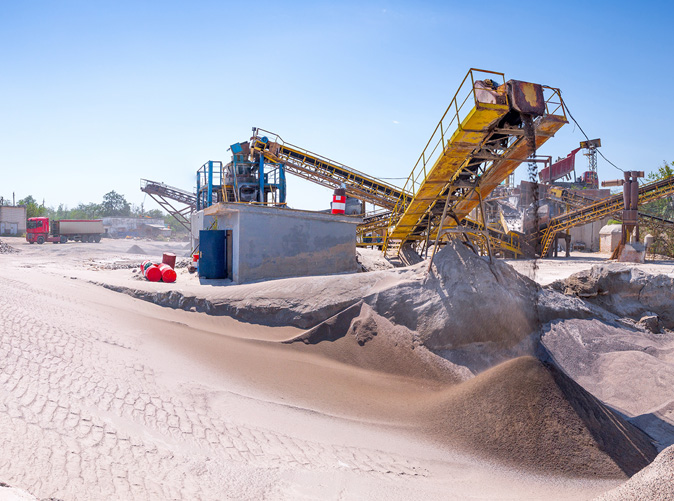 sand and equipment