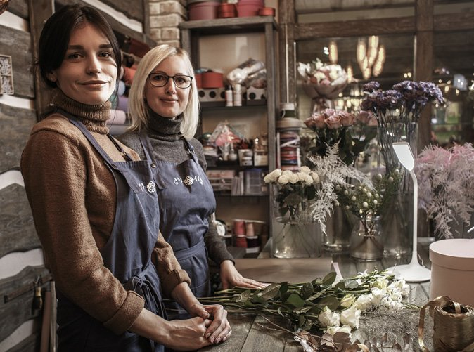 florists at their flower shop