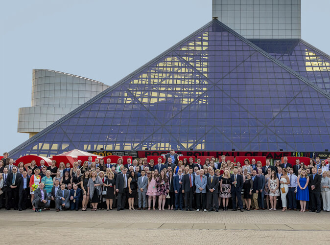 Meaden and Moore team at the Rock and Roll Hall of Fame